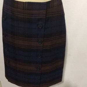 Brooks brothers NEW 346 Plaid Mid Dress Sz6P Lined